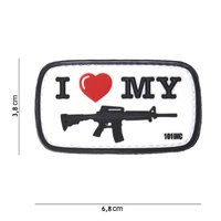 I love my AR15 M43D PVC Patch