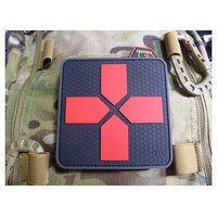 JTG Big Red Cross Medic Patch - schwarz/rot
